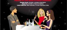 restaurant en fête et vins de graves